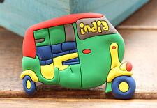 Indien Rickshaw Reiseandenken 3D Weichgummi Kühlschrankmagnet Souvenir Magnet