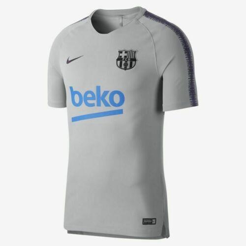 Nike FC Uomo Grigio BARCELLONA respirare Squad Uomo Football Top-M