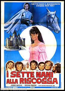 I-SETTE-NANI-ALLA-RISCOSSA-MANIFESTO-CINEMA-ROSSANA-PODESTA-BIANCANEVE-POSTER-2F