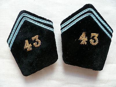 Pattes de Col Uniforme or OFFICIER 43° BT BATAILLON DES TRANSMISSIONS France