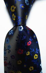 New-Classic-Floral-Blue-Black-Red-Yellow-JACQUARD-WOVEN-Silk-Men-039-s-Tie-Necktie