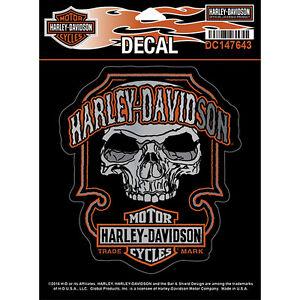 harley davidson aufkleber decal dark skull kleber. Black Bedroom Furniture Sets. Home Design Ideas