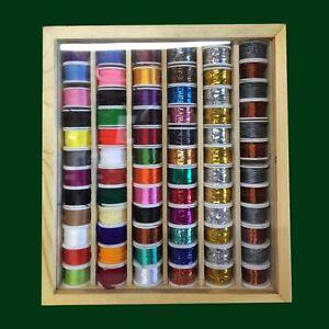 72-Grandes-Bobine-de-Fil-Soie-Tinsel-Cabler-et-Laine-Multicolore