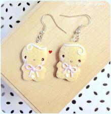 Orecchini Omino Marzapane Zenzero ~ Cute Gingerbread Earrings Fimo Polymer Clay