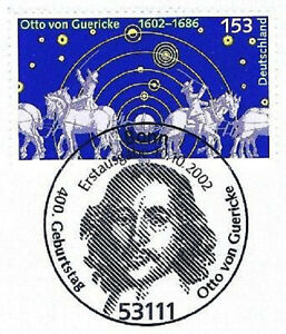 Frg-2002-Otto-By-Guericke-No-2282-With-Bonner-First-Day-Postmark-1A-20-05