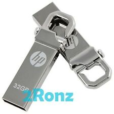 HP v250w 32GB 32G USB Flash Pen Thumb Drive Disk Stick Silver Metal Lot of 10pcs