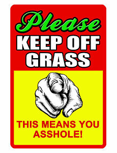 KEEP OFF GRASS Sign NO TRESPASSING SIGN DURABLE ALUMINUM FULL COLOR NO RUST - Akron, Ohio, United States - KEEP OFF GRASS Sign NO TRESPASSING SIGN DURABLE ALUMINUM FULL COLOR NO RUST - Akron, Ohio, United States
