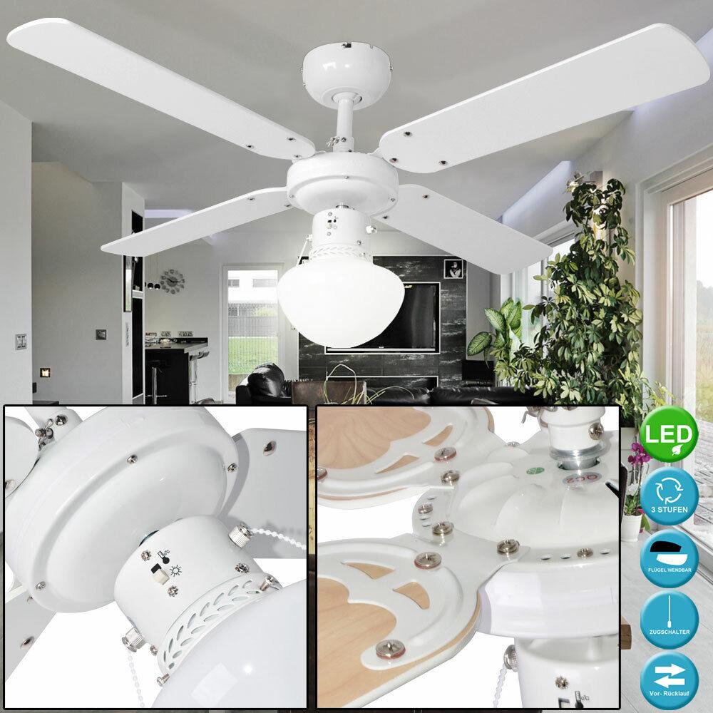 LED Decken Ventilator Wohn Raum Kühler Luft Erfrischer Energie Spar Beleuchtung