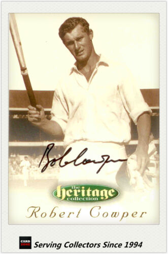 1996 Futera Cricket Heritage Signature Card Player Edition #55: Robert Cowper
