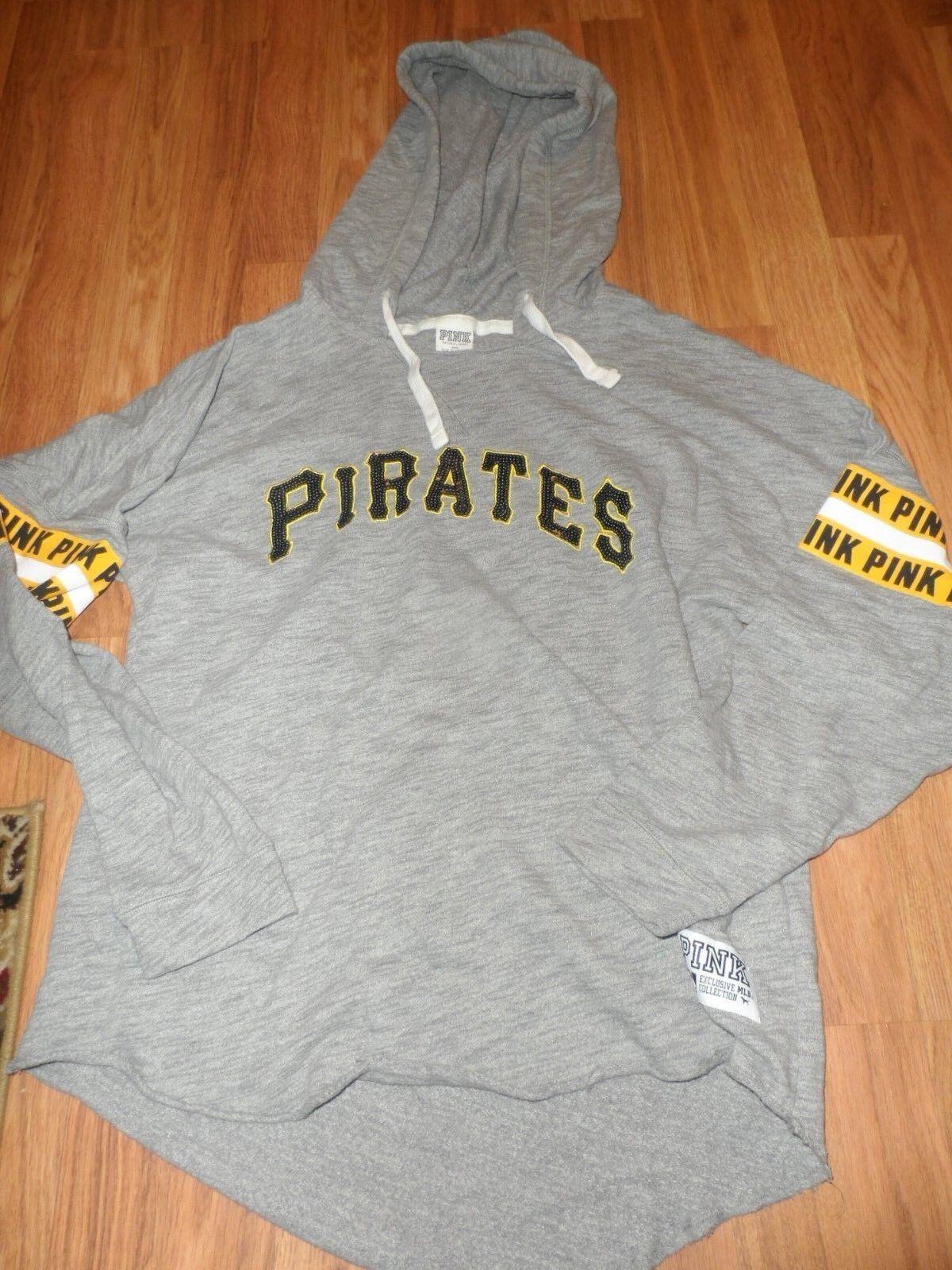 VS VS VS Victoria's secret PINK  large  hoodie hooded sweatshirt Pittsburgh Pirates 9a2127