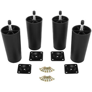 Pleasing Details About 4Pcs Plastic Sofa Legs Replacement Furniture Sofa Legs W Mounting Plates Screws Home Interior And Landscaping Eliaenasavecom