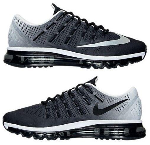 Nike Air equinoccio Max 2018 equinoccio Air para hombre M Correr Malla Negro- blanco o Authentic Seleccionar Talla e998ea