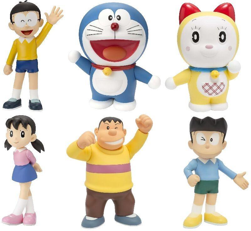 Doraemon Family Character Figure Bandai tamashii Authorized PVC ABS JAPAN