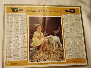 CALENDRIER-ANCIEN-ALMANACH-DES-PTT-1959-034-Doux-comme-un-agneau-034