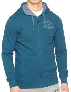 Details about Asics Graphic Mens Hoody Full Zip Soft Touch Blue Hoodie show original title