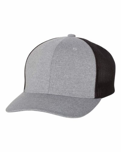 "Flexfit Mens Melange Trucker Mesh Cap structured stretchHat 6-7//8/"" 7-1//2/"" 6311"