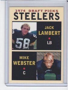 Jack-Lambert-Mike-Webster-Pittsburgh-Steelers-039-74-Draft-Picks-3-rookie-stars