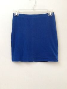 a29cd30b09a Image is loading FOREVER-21-BLUE-STRETCH-KNIT-SKIRT-S