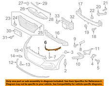 HYUNDAI OEM 17-18 Elantra Front Bumper Grille-Reinforcement Left 64118F2000