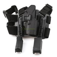 Quick Tactical Drop Leg Thigh Rig Holster W 2 Magazine Pouche F Glock17 18 19 27