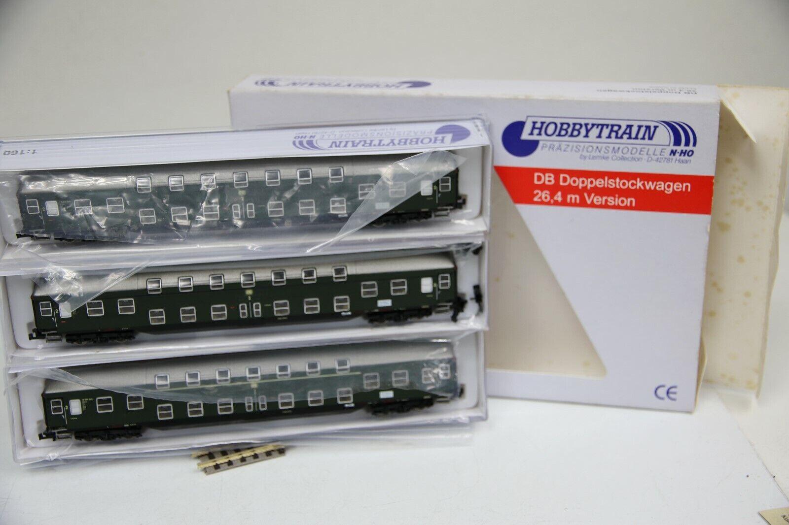 Hobbytrain N h22030 Set 3 pezzi dB bastone doppio carrello verde delle DB in OVP (rc8)