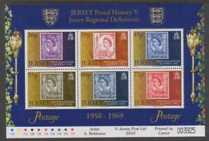 Jersey-2010-Postal-Histoire-5th-Series-Feuille-MNH-Sg-MS1517
