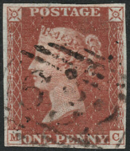 1841-SG8-1d-RED-BROWN-PLATE-44-RARE-632-PWLLHELI-WALES-FINE-USED-4-MARGINS-MC