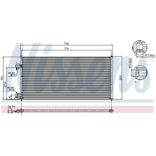 94664 Condensador para aire acondicionado clima condensador clima radiador nuevo Nissens