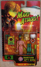 MARS ATTACKS Martian Spy Girl Action Figure (MOSC, Working Electronics!)