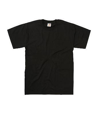 New Fruit of the Loom Heavy Cotton Plain Blank Short Sleeve Cotton T-shirt