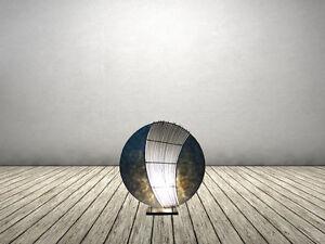 TISCHLEUCHTE-Asia-Design-LIKO-Bambus-Bali-Muscheln-Lampe-3-Groessen-Orient-Afrika