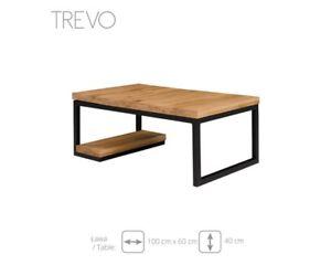 Détails sur Table Basse D\'Appoint Design de Salon Tableaux Trevo