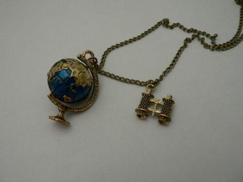 cadena steampunk Gothic vintage Globus Remolque tierra prismáticos bisutería