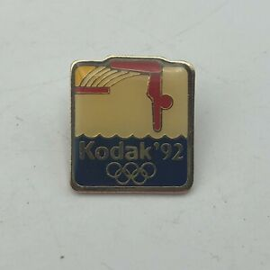 1992 Olympics Diving Lapel Hat Pin Kodak Barcelona Vintage  G9