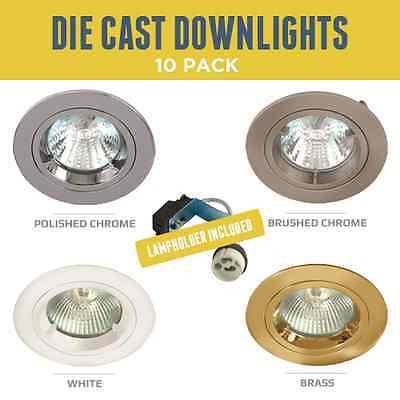 Various Colours GU10 Mains 240V Recessed Downlight Spotlight Fixed Downlighter