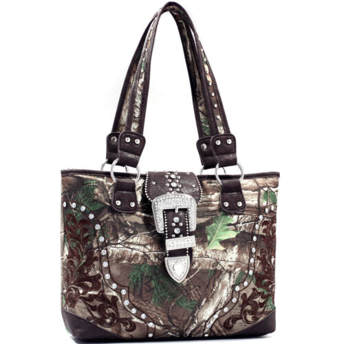 Realtree® Womens Handbags Camouflage Shoulder Bag Tote Rhinestone Large Purse