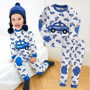 Vaenait-Baby-Toddler-Kid-Boy-Clothes-Long-Sleepwear-Pajama-Set-034-Blue-Car-034-12M-7T