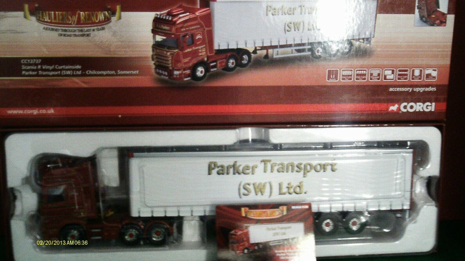 ti aspetto CORGI moderno camion trasporto merci pesanti pesanti pesanti CC13737 SCANIA CURTAINSIDE PARKER trasporto 1 50  80% di sconto