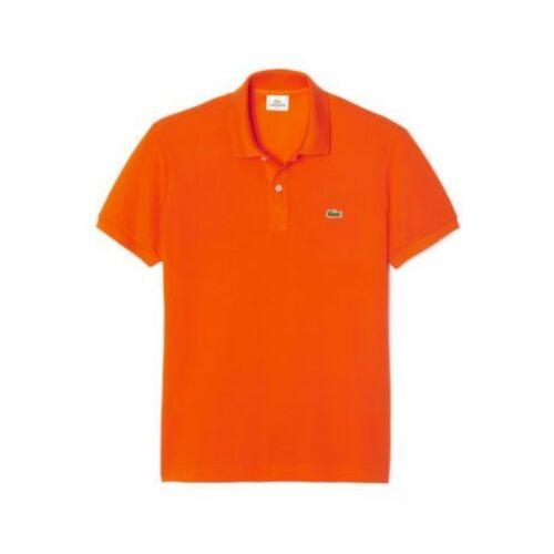 Lacoste Slim Fit Polo Shirt # PH5001 51 F8C Orange Men SZ S 2XL