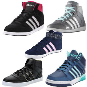 8983cf5a38a3 Womens Adidas Neo Hoops Vulc Daily Twist Mid Trainers Hi Top Vl Gym ...