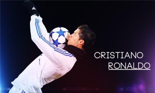 "Cristiano Ronaldo CR7 Football Star Art Wall Poster 21x13""  CR19"