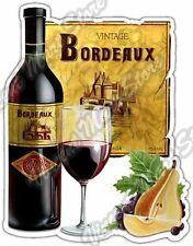"Bordeaux Wine Drink Alcohol Restaurant Bar Car Bumper Vinyl Sticker Decal 4""X5"""