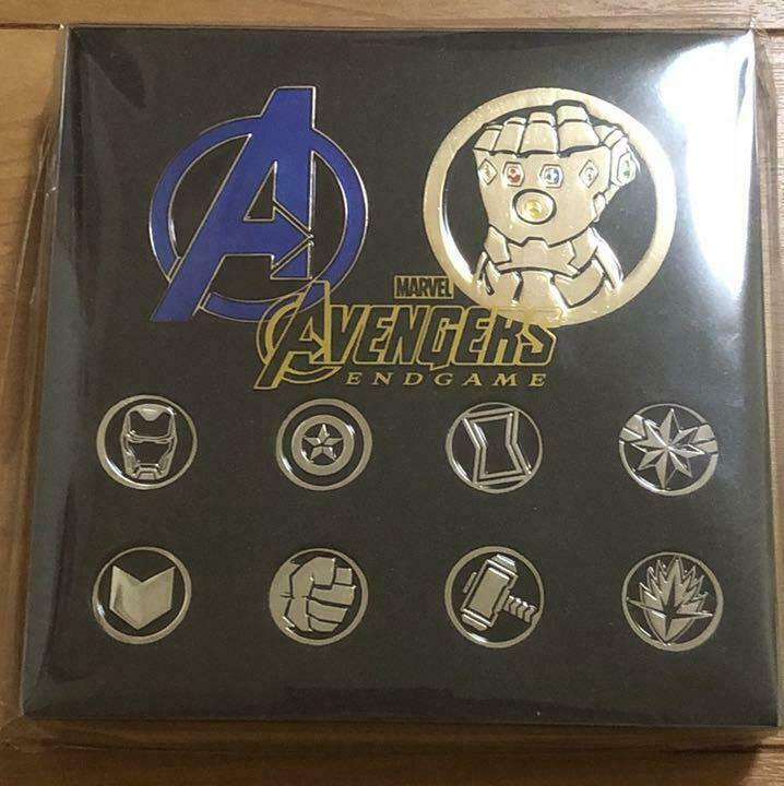 Avengers End Game Pin badge set RARE Marvel Japan F S