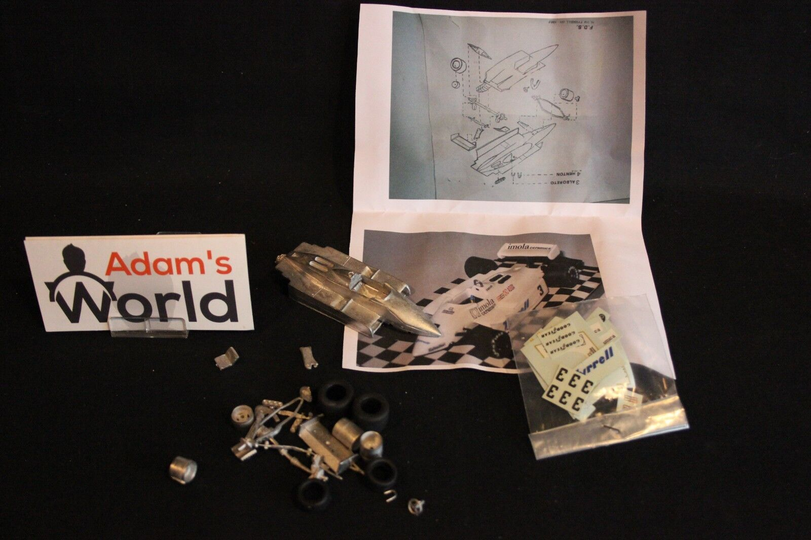 FDS kit Tyrrell Ford 011 1981 1 43 Eddie Cheever (USA)