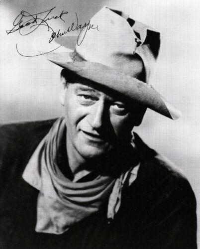 "John Wayne  /""HONDO/""     8x10 B /& W Autographed Reprint JW-52"