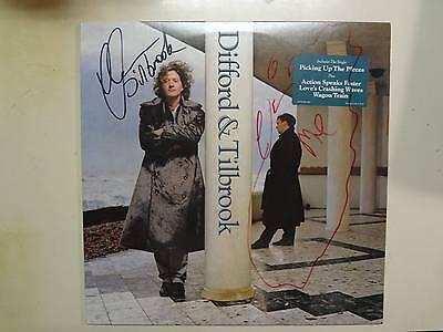 difford & Tilbrook-us Lp Pcv Autographed By Both Strengthening Waist And Sinews fromsqueeze Persevering Difford & Tilbrook: