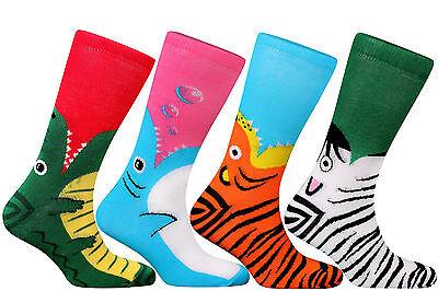 Aktiv Samson® Dress Socks Wild Side Dolphin Tiger Zebra Crocodile Shark Animals Gift