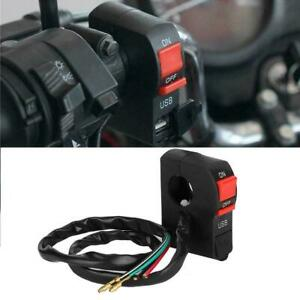 NEW-Motorcycle-Handlebar-Charger-Switch-USB-Phone-Charger-12V-ABS-Waterproof