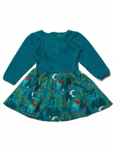 Little Green Radicals Organic Midnight Jungle Peter Pan dress  2 3 4 5 6 7 8