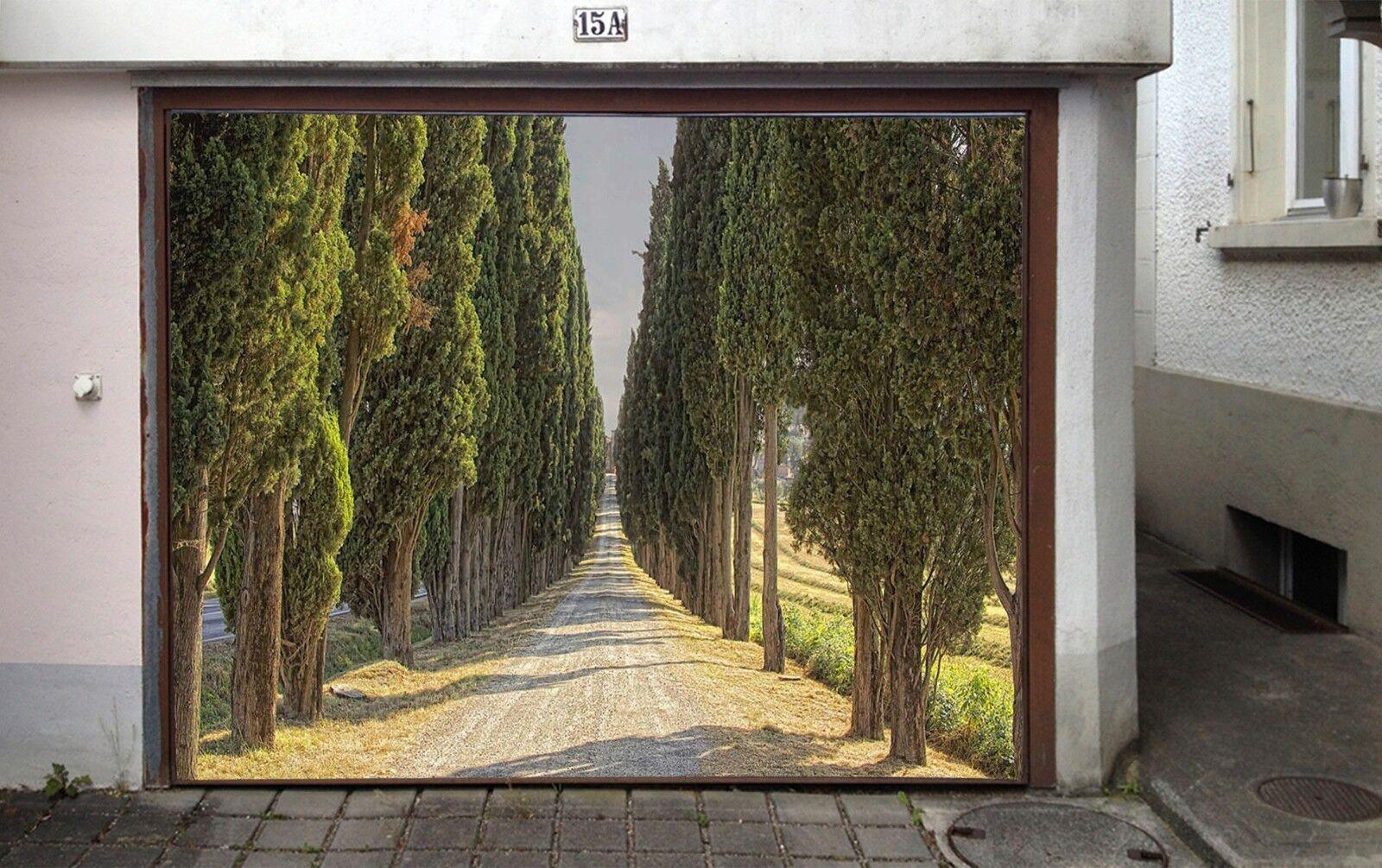 3D 3D 3D Roadside trees Garage Door Murals Wall Print Decal Wall Deco AJ WALLPAPER AU 39920b